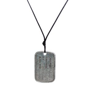 THE ARMY TAG CORD NECKLACE