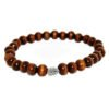 bracelet with wooden beads and metallic element