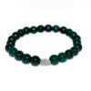 bracelet with green howlite beads and metallic element
