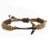 ANCHOR BROWN MACRAME BRACELET