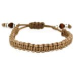 THE MACRAME BRACELET – LIGHT BROWN