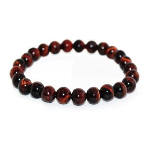 bracelet with red tiger eye beads