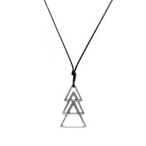 THE TRIANGLES CORD NECKLACE