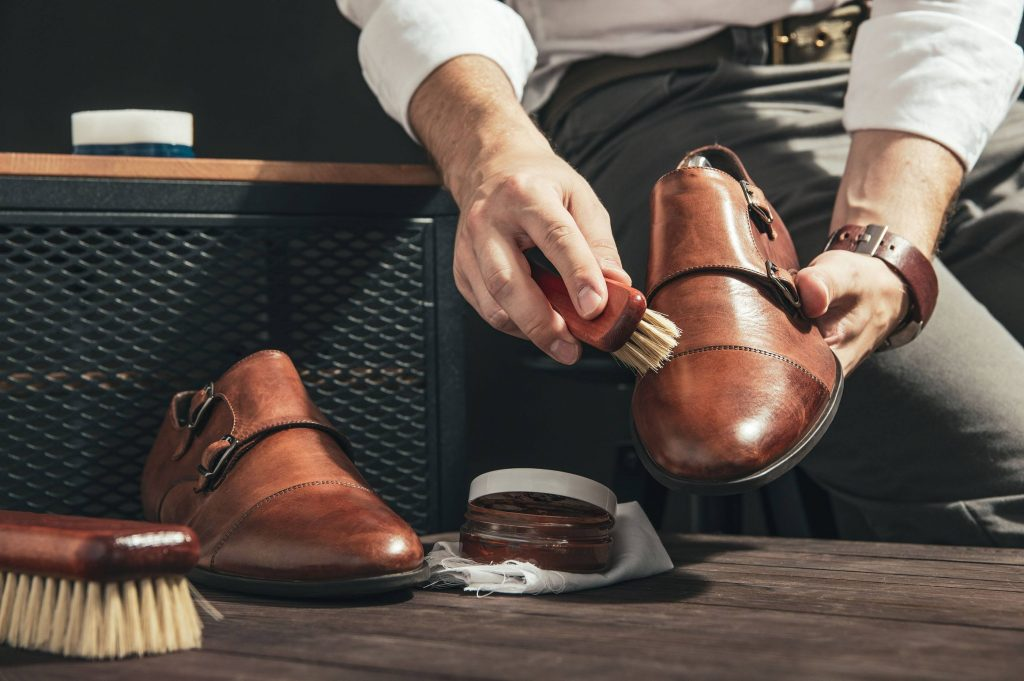 Polishing Shoes - Leather