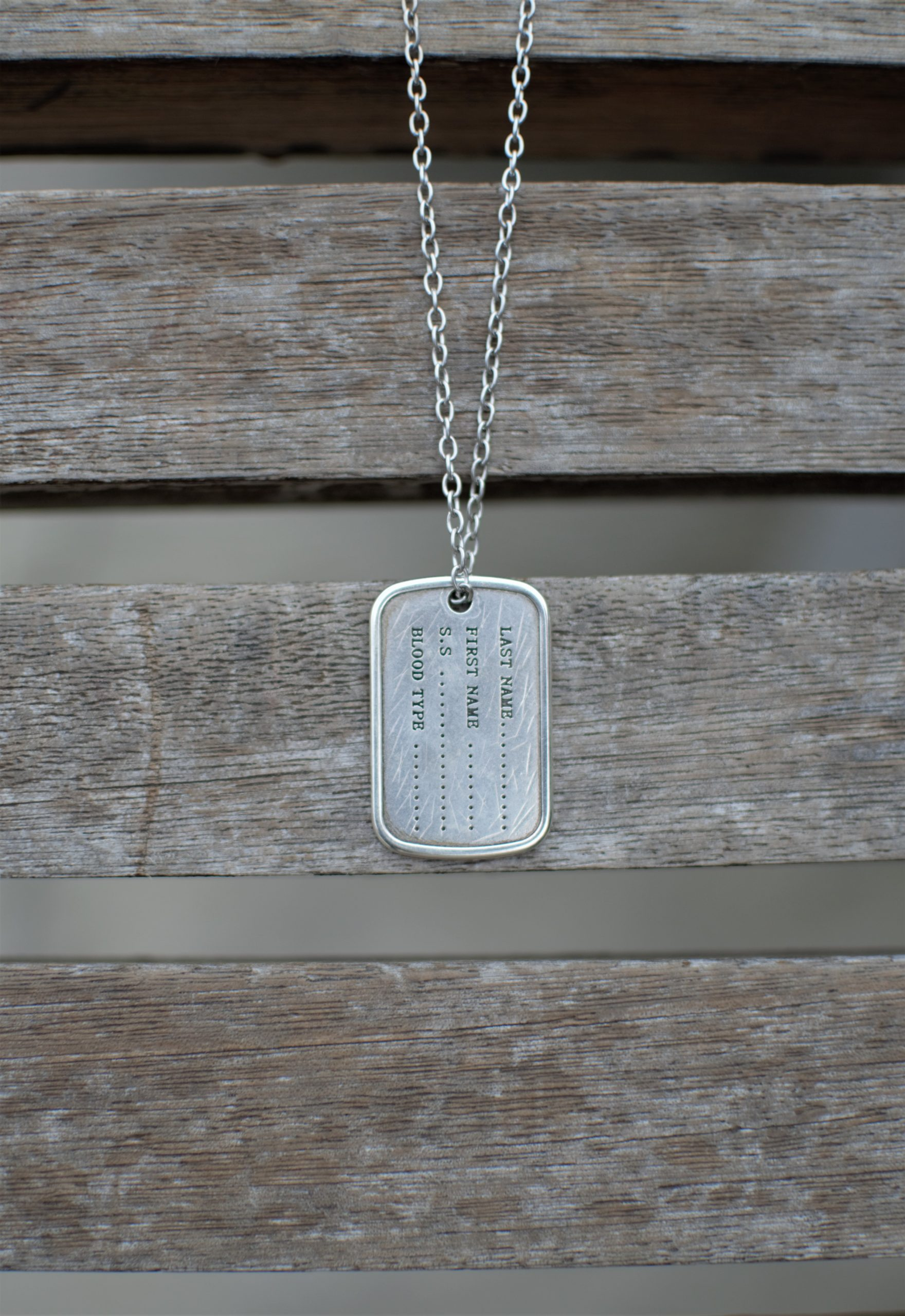 The Chain Army Tag Men's Necklace