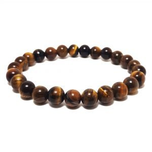 bracelet with yellow tiger eye beads
