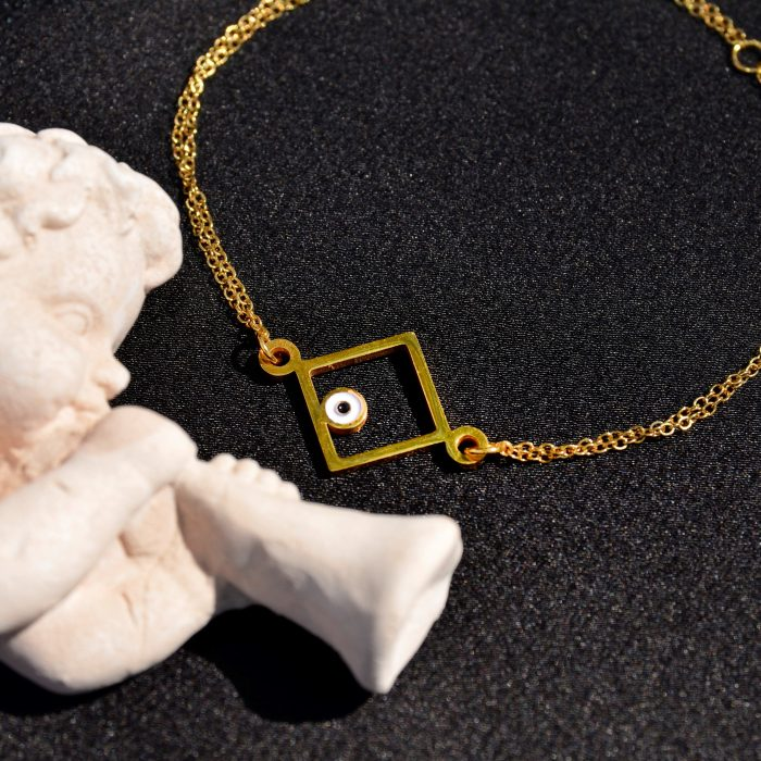 Yellow gold square bracelet(1)