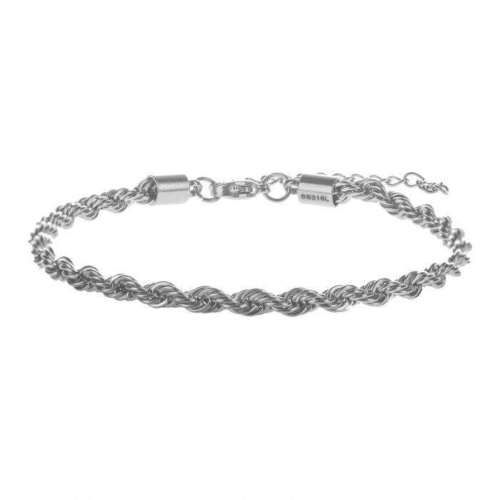 Rope Silver Bracelet