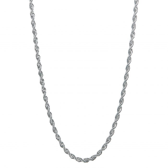 Rope Silver Necklace