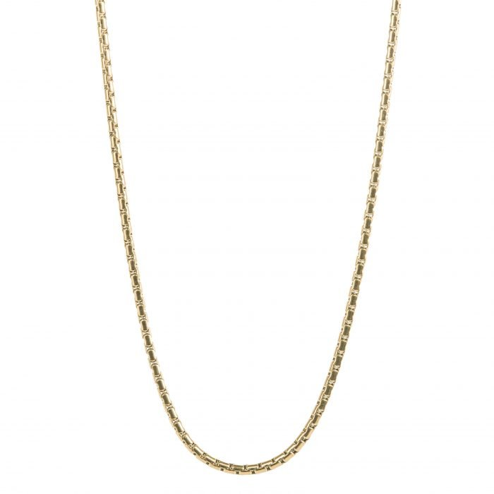 Round Box Gold Necklace