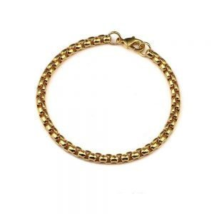 Round Box Silver Bracelet 4mm