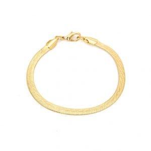 Snake bracelet gold 5mm