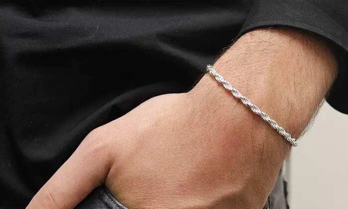 rope chain bracelet silver 4mm