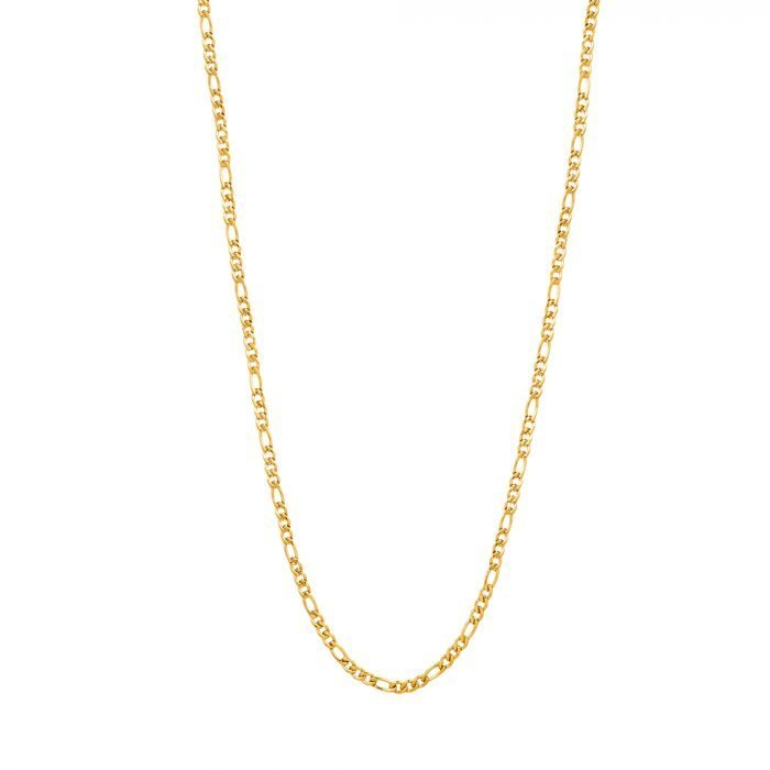 Gold figaro necklace 3mm