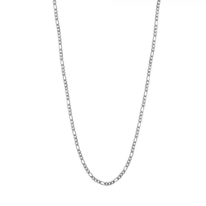 Silver figaro necklace 3mm