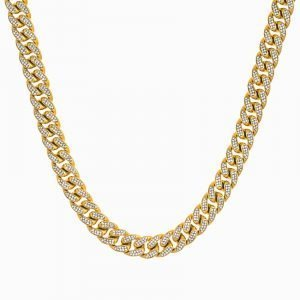 ICED OUT CUBAN CHAIN – GOLD
