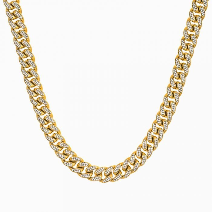 ICED OUT CUBAN CHAIN - GOLD
