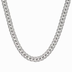 ICED OUT CUBAN CHAIN – SILVER