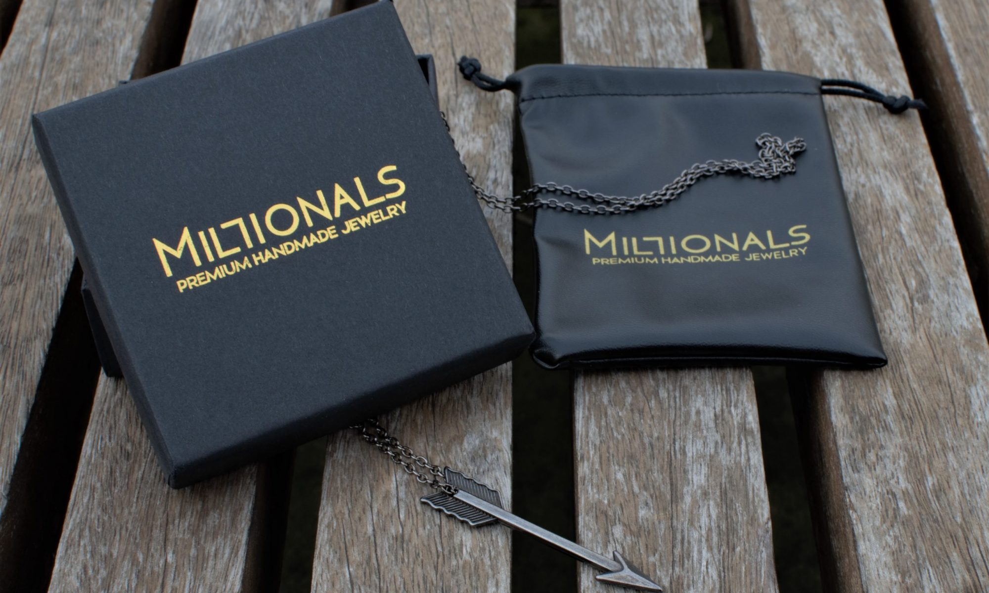 Millionals Premium Packagin with the Arrow Necklace